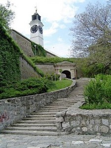 Petrovaradin-Fortress,-Novi-Sad's-historical-landmark-and-the-venue-of-Serbia's-and-Europe's-popular-Exit-music-festival